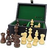 チェスジャパン チェス駒 クラシック・スタントン 97mm 収納箱付属