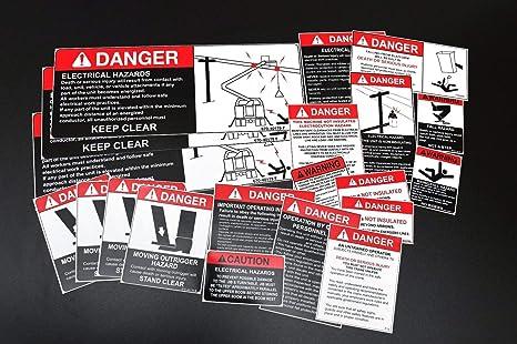 Safety Decals For Bucket Boom Truck Crane Safety Labels Amazon Com Industrial Scientific