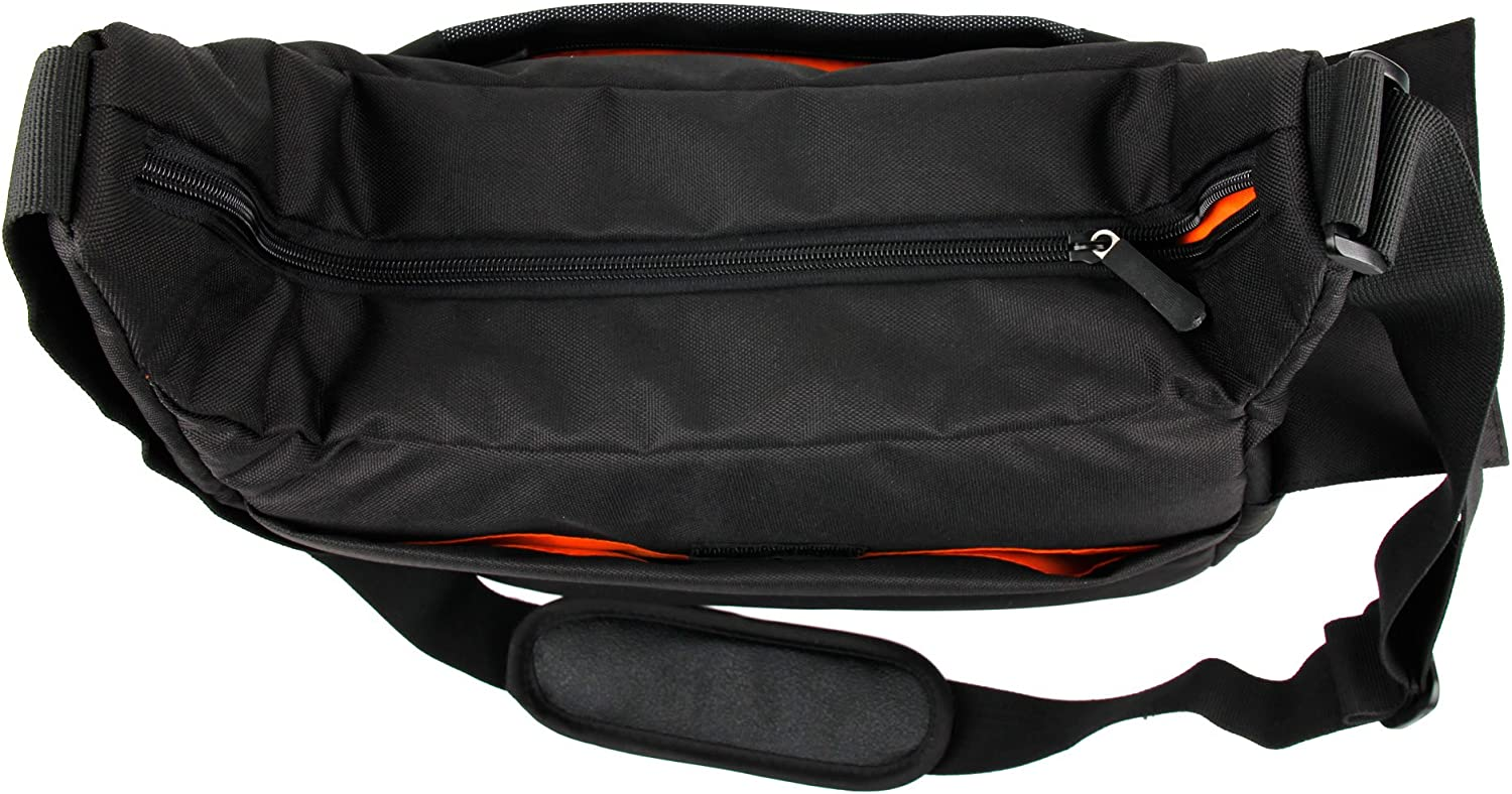 DURAGADGET Premium Quality Satchel-Style Messenger Bag in Black /& Orange for The New Kodak Pixpro SP360 /& Kodak PixPro SL5 Lens-Style Camera Water-Resistant