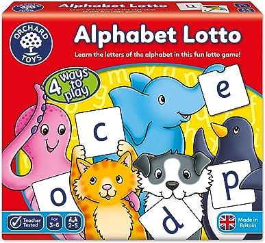 Orchard Toys Alphabet Lotto - Juego para aprender el alfabeto (en inglés): Amazon.es: Juguetes y juegos