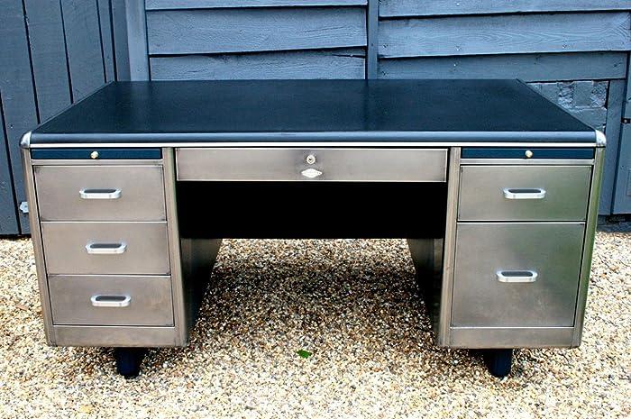 Polished steel, Upcycled vintage industrial desks - Amazon.com: Polished Steel, Upcycled Vintage Industrial Desks: Handmade