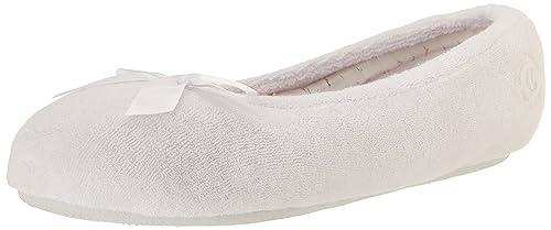 cc235ed705e Isotoner Women s Terry Ballerina White  Amazon.ca  Shoes   Handbags