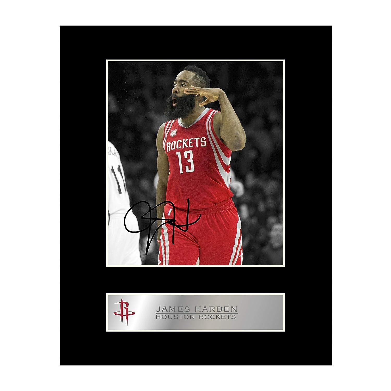 James Durcir Photo dédicacée encadrée Houston Rockets Iconic pics