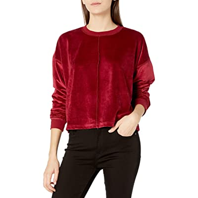 Roxy Women's Crystal Cove Velour Crewneck Fleece: Clothing