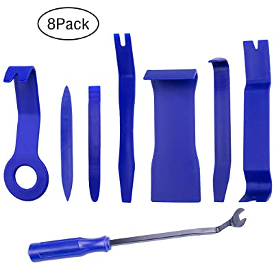 Auto Trim Removal Tool Kit, Ezire 8 Pcs Auto Trim Removal Tool Kit for Car Dash Radio Audio Installer Pry Tool: Home Improvement