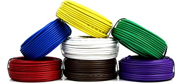 7 Way Trailer Wire Light Cable for Harness 50 FT Each Roll 12 Gauge 7 Colors