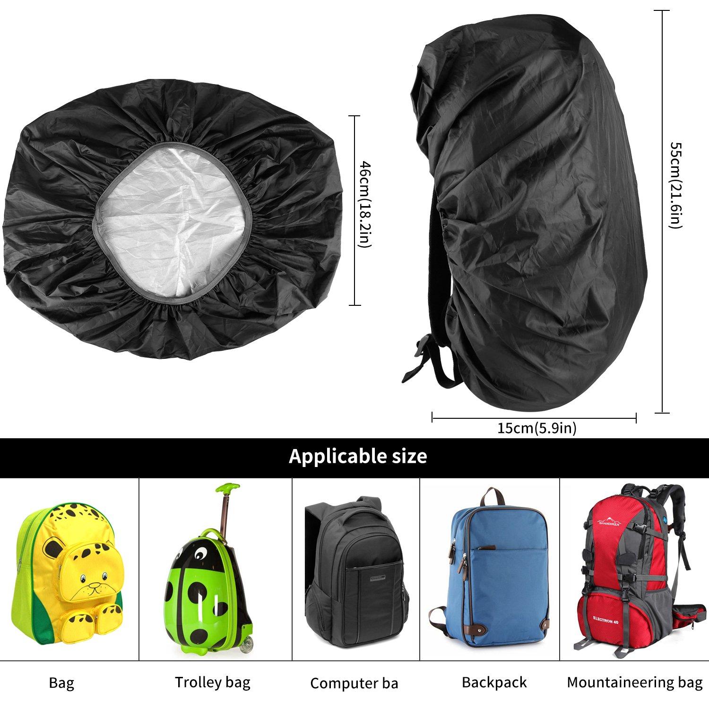 ONSON Backpack Rain Cover Nylon Waterproof Backpack Rain Cover,Water-Resistant Backpack Rucksack Bag Rain Cover,Rucksack Water Protector Cover for Hiking,Camping,Climbing,Cycling-BT01 Adjustable