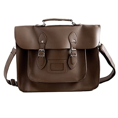 9232d4d8ad Faux Leather Brown Traditional Vintage Style School Satchel Backpack   Amazon.co.uk  Clothing
