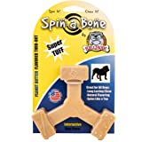 Bullibone Nylon Dog Chew Toy Spin-a-Bone - Interactive Dog Toy, Triggers Natural Instincts, and Improves Oral Health