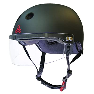 Triple Eight The Certified Sweatsaver Helmet with Visor for Roller Derby, Skateboarding and BMX : Sports & Outdoors