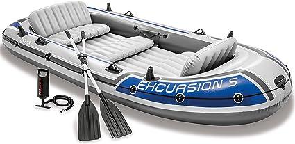 Amazon.com: Bote inflable Intex Excursion 5, para 5 personas ...