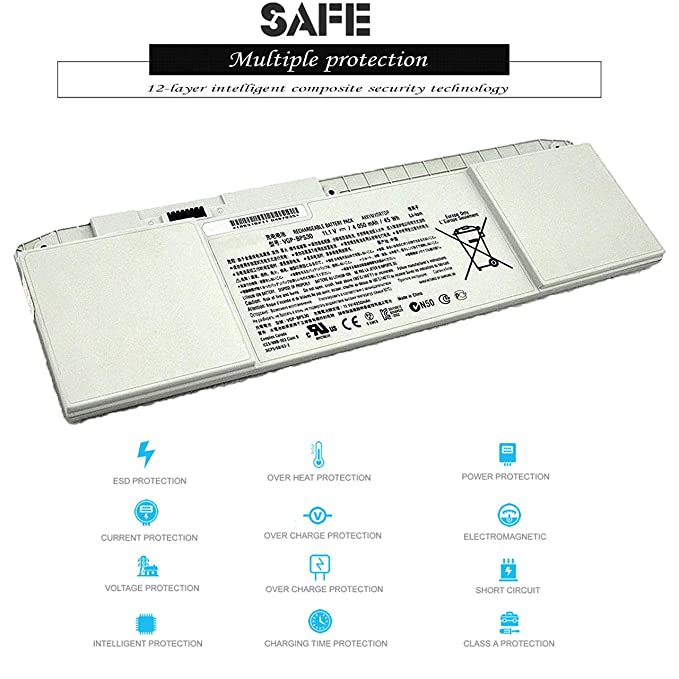 Amazon.com: sunnear 6-Cell VGP-BPS30 – Batería para Sony ...