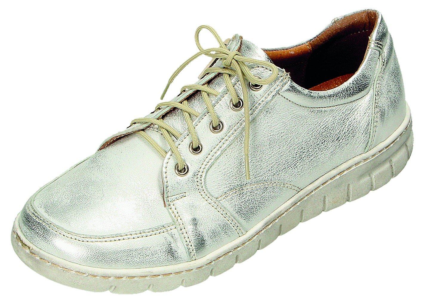 MICCOS Zapatos de Cordones Para Mujer Plateado Plata 41 EU plata