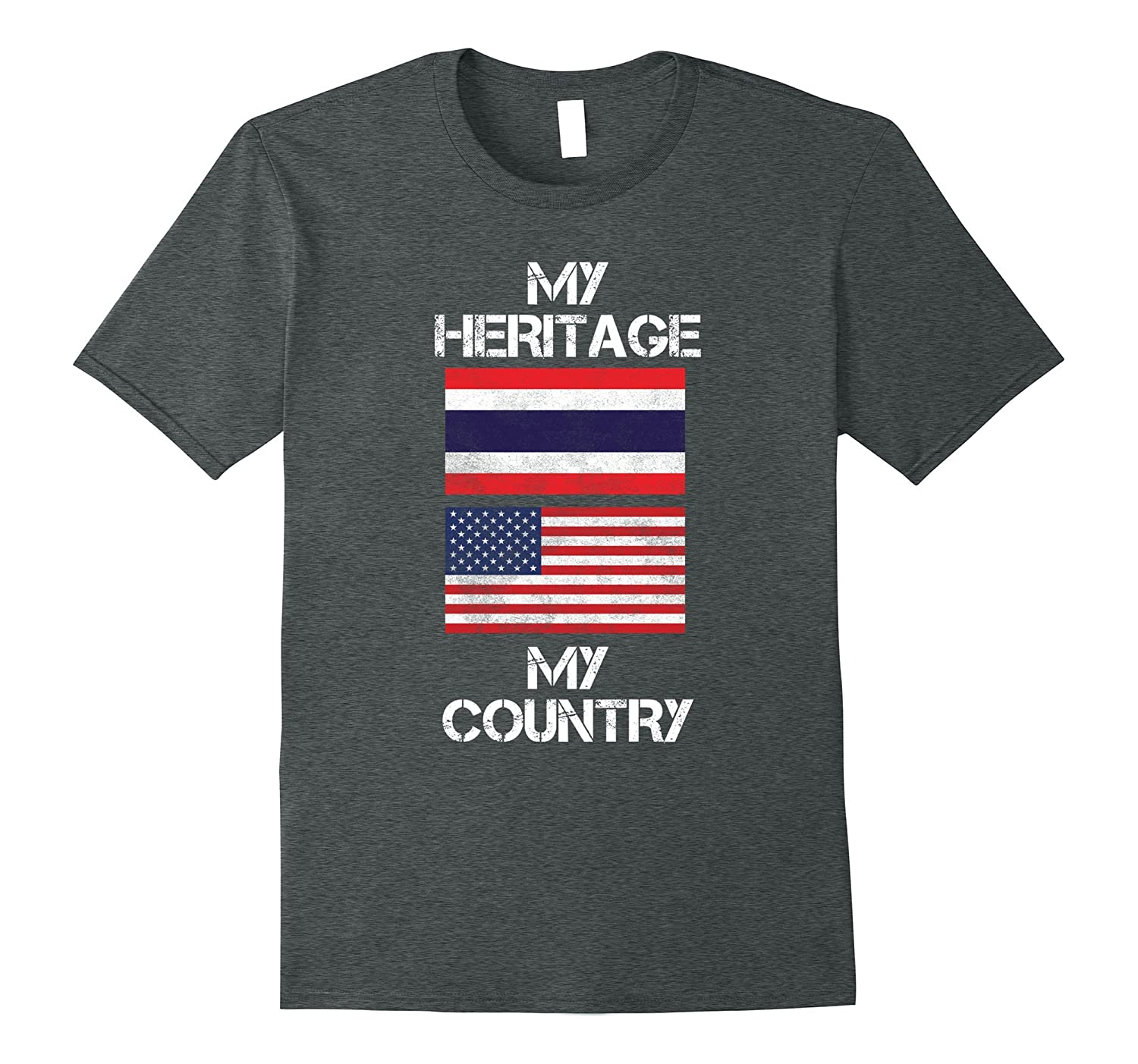 My Heritage My Country Thai American T-Shirt-Vaci