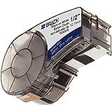 "Brady M21-500-499-TB 16' Length, 0.5"" Width, B-499 Nylon Cloth, Black On White Color, BMP 21 Mobile Printer, ID PAL And LABPAL Printer Label"