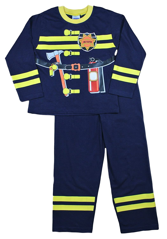 Cool Fireman Fancy Dress Long Pyjamas 2 3 4 5 6 Years