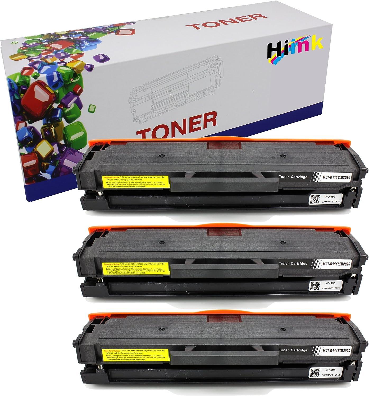 3 Pack MLT-D111S Toner Cartridges for Samsung 111S Xpress SL-M2070FW Printer