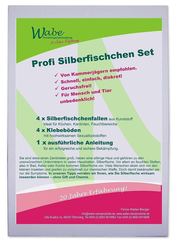 Profi Silberfischchen Bekämpfungs Set - 4 Stck. Klebefallen mit ...