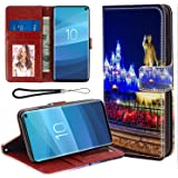 DISNEY COLLECTION Wallet Case with Card Holder Compatible Galaxy S10+ Mickey Mouse Walt Disney World Durable