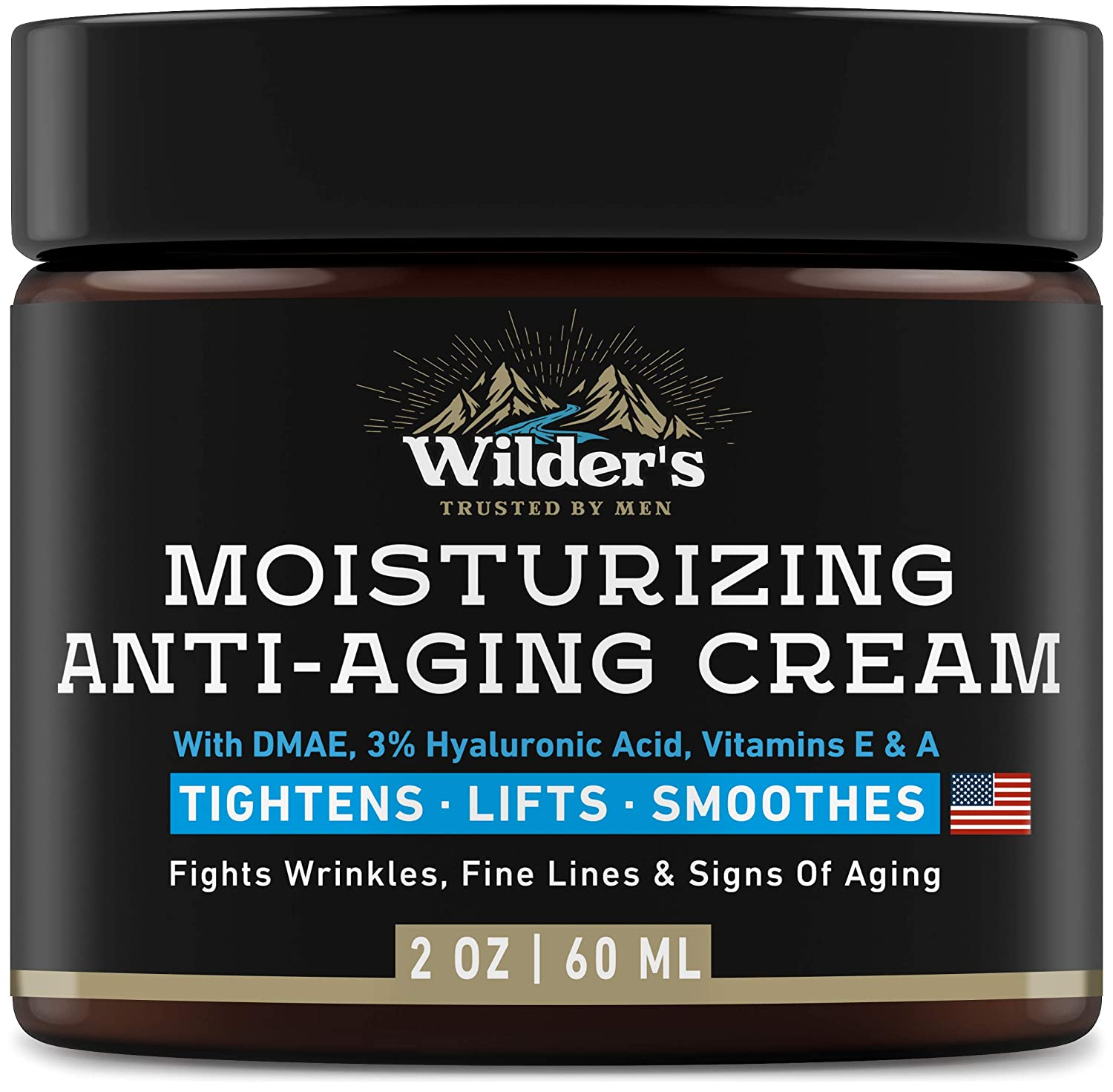 Men's Anti Aging Face Cream Moisturizer - Premium Skin Care for Men with Collagen, Retinol, Hyaluronic Acid - Made in USA - Fast Anti-Age Effect Day & Night - Wrinkle Free Facial Men Moisturizer 2Oz: Beauty