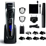 Hatteker Mens Beard Trimmer Hair Trimmer Cordless Hair Clipper Grooming Kit Mustache trimmer Precision Trimmer for Men Hair Cutting Kit Waterproof 3 In 1