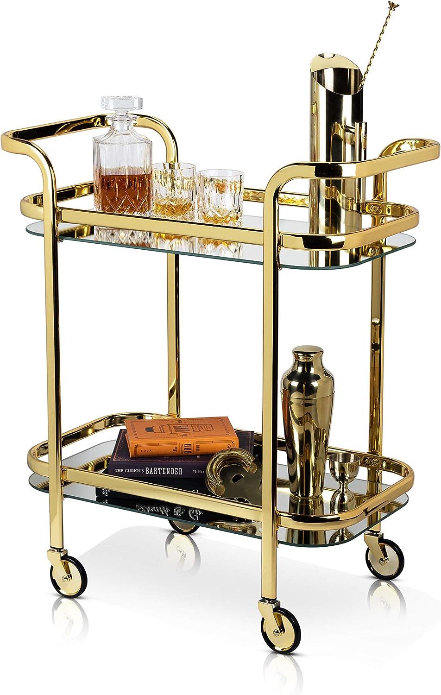 Viski Belmont Bartending Barending, Set of 1, Bar Cart