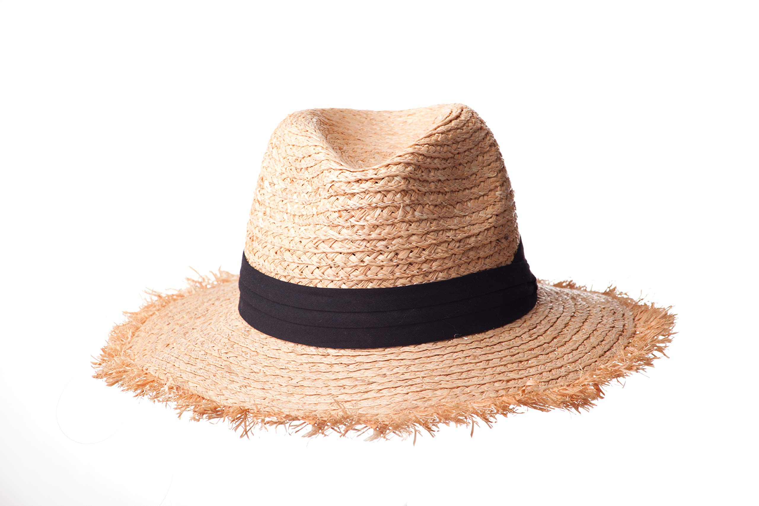 CATA, Hats Raffia Straw Panama Hat for Women, Classic Retro Style, Great for Travel, Adjustable Size, and Stylish Sun Protection by Cata straw hats