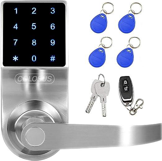 teclado de seguridad Signstek Smart Lock Cerradura electr/ónica digital sin llave