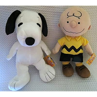 "Peanuts Collection Bundle--Charlie Brown 12"" Plush and Snoopy 12"" Plush by Kohl's Cares: Toys & Games"