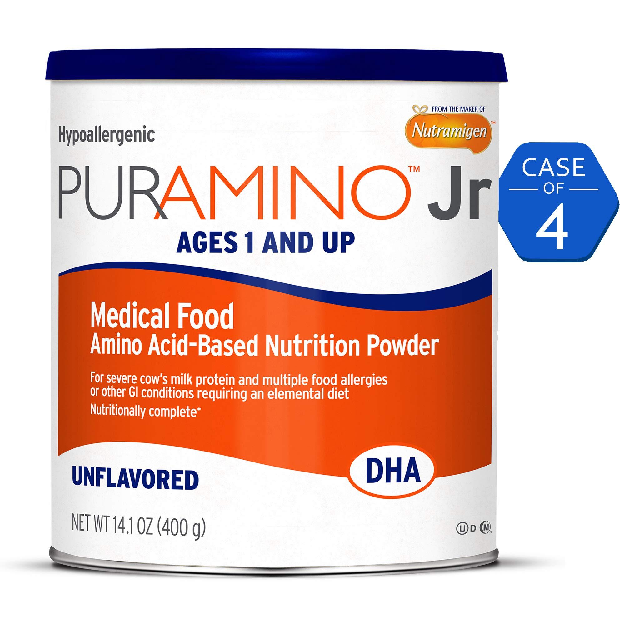 Puramino Junior, Unflavored, Hypoallergenic Formula, Powder Can, 56.4 Ounce
