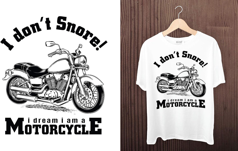 Camiseta de moto para hombre, con texto en inglés