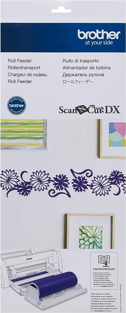 Brother CADXRF1 ScanNCut DX Vinyl Roll Feeder, cortes para pegatinas de pared y pegatinas grandes, incluye fijación al suelo, soporte y recortador: Amazon.es: Hogar
