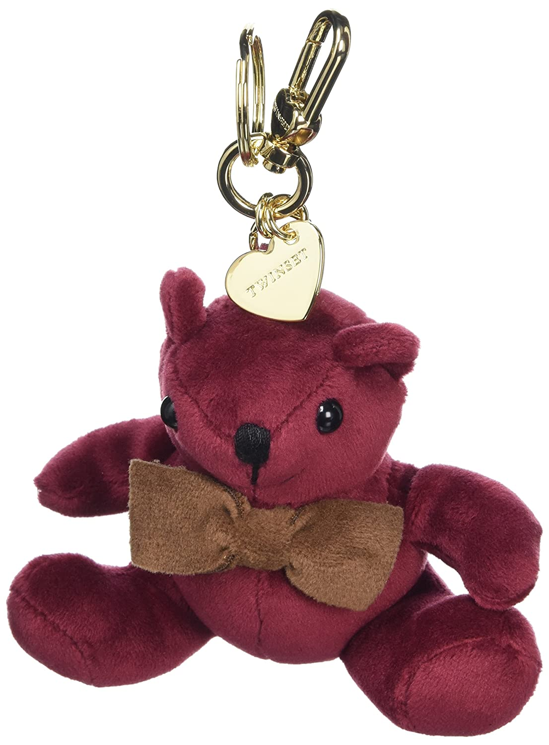 Amazon.com: TWIN-SET Keyrings Bordeaux Peluche Female - OA7TMA-00020: Shoes