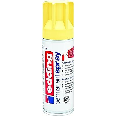 edding 5200-915 - Spray de pintura acrílica de 200 ml, secado rápido sin burbujas, color amarillo pastel mate
