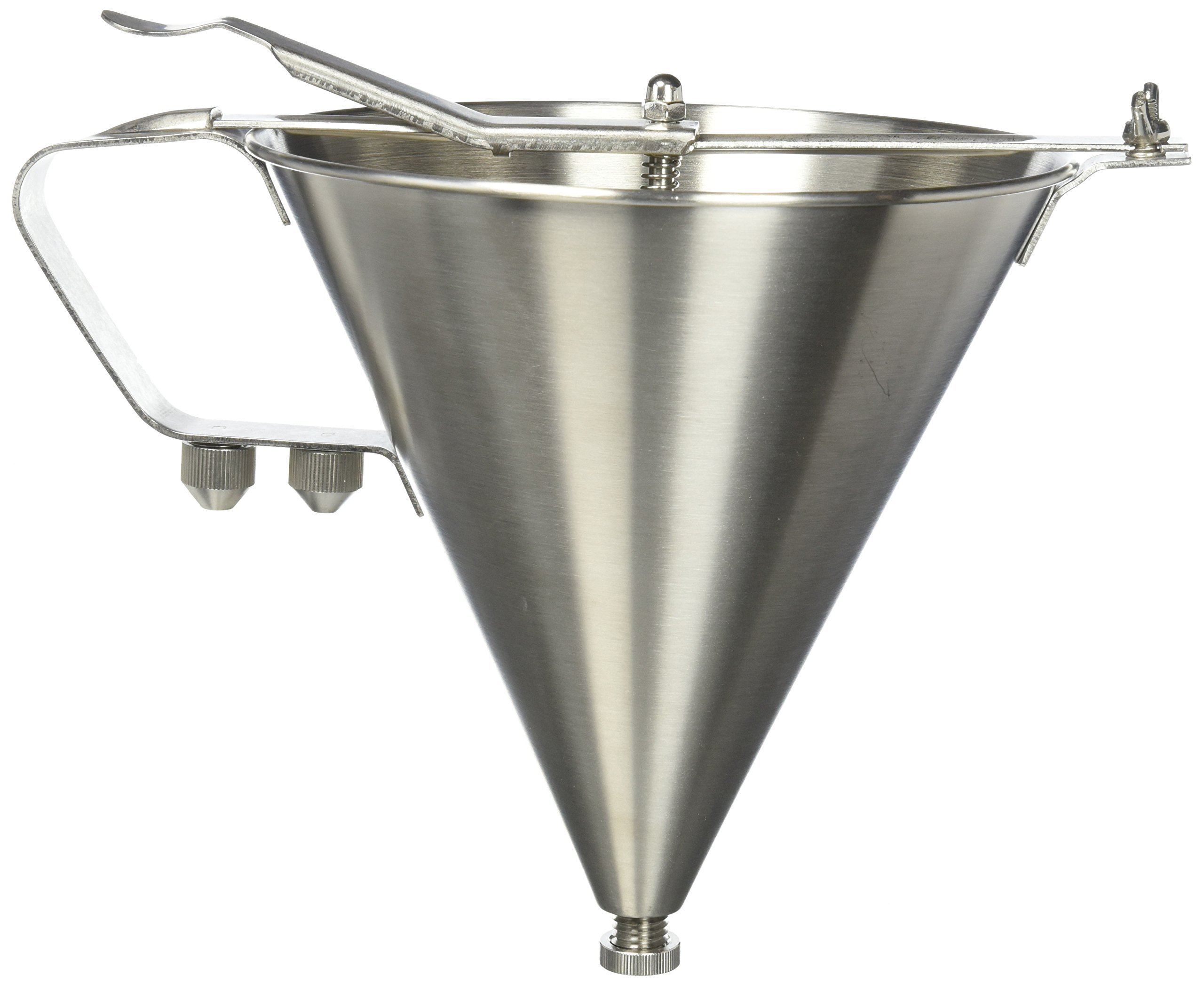 Winco SF-7 Stainless Steel Confectionery Funnel with 3 Nozzles