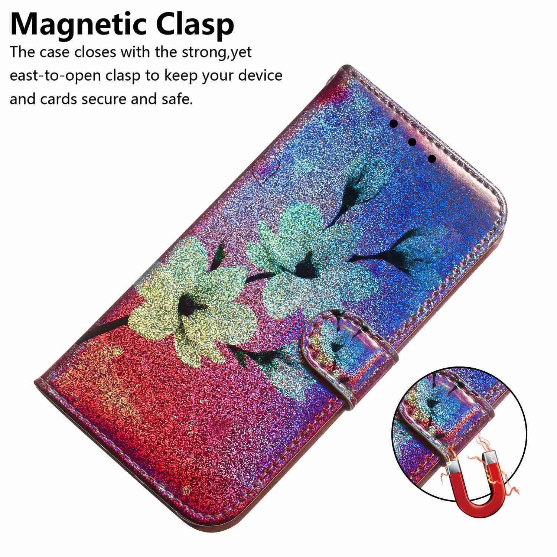 Reevermap Handyh/ülle f/ür Samsung Galaxy M30S H/ülle Gl/änzend Glitzern Bunt Gemustert Flip Case PU Leder Cover Magnet Schutzh/ülle Tasche St/änder Katze