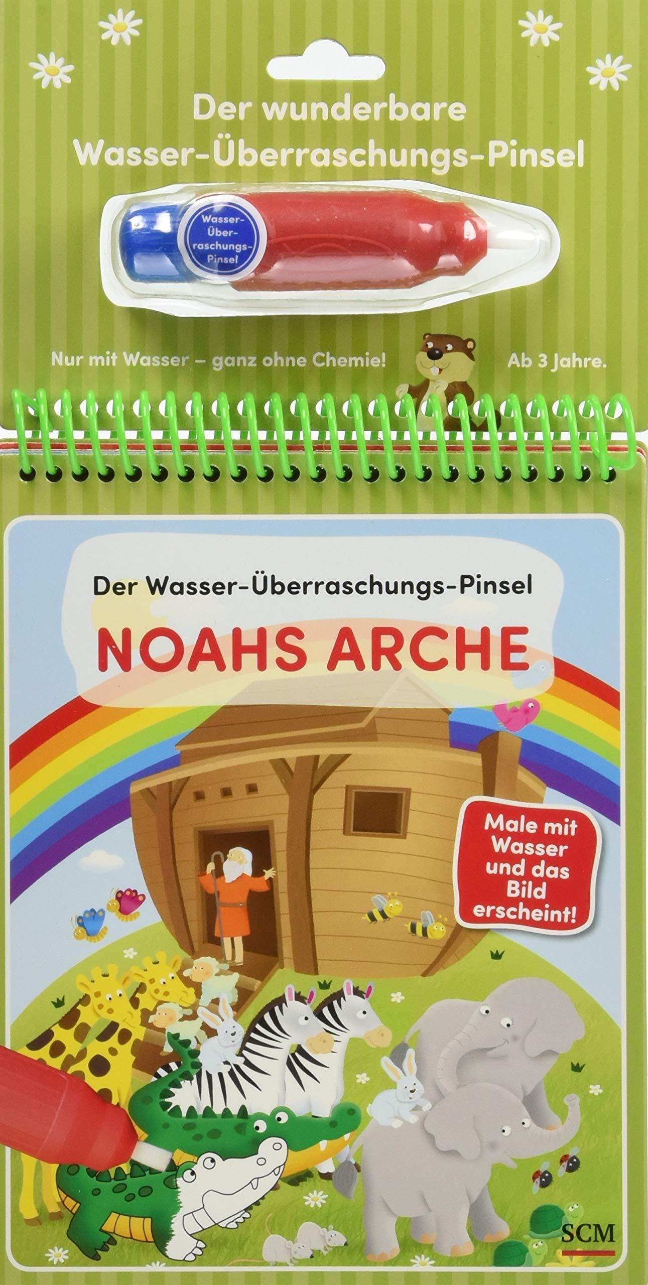 Der Wasser-Überraschungs-Pinsel - Noahs Arche: Male mit Wasser und das Bild erscheint!