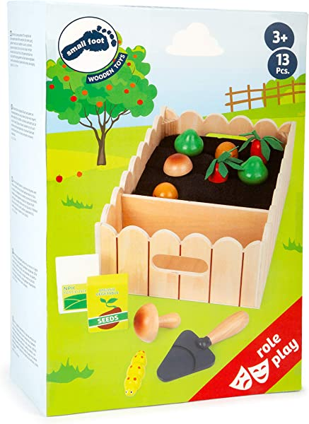 Small Foot Wooden Toys Vegetable Garden Complete Playset