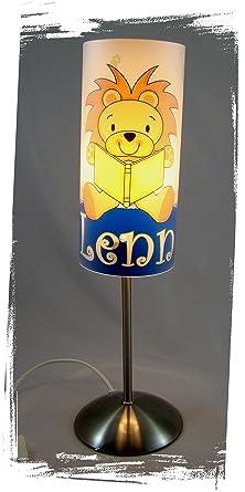 Lampe De Chevet Pour Chambre D Enfant Personnalise Avec Prenom Lion