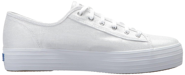 1856eb07 Keds TPL Kick Metallic Linen Silver, Zapatillas para Mujer, Blanco (White  10)