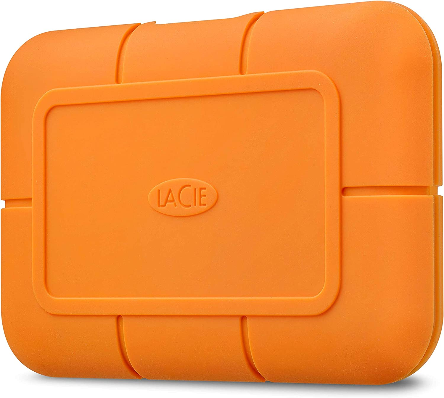 LaCie Rugged SSD 500GB Solid State Drive — USB-C USB 3.0, Drop Shock Dust Water Resistant, for Mac and PC Computer Desktop Laptop, 1 Mo Adobe CC (STHR500800)