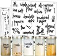 Pantry Labels - Preprinted Kitchen Labels Sticker Set by Talented Kitchen. Script Design, Clear, Gloss, Water Resistant, Food & Spice Jar Labels for Pantry Organization and Storage (Set of 57- Script)