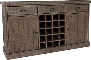 Kosas Home Wine Cabinet, Desert Gray