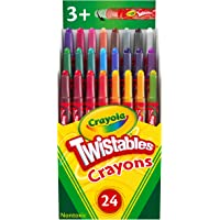 CRAYOLA 3000002682 24 Mini Twistables Crayons, 24 Bright and Classic Colours, Twist for Fun, Great for little hands