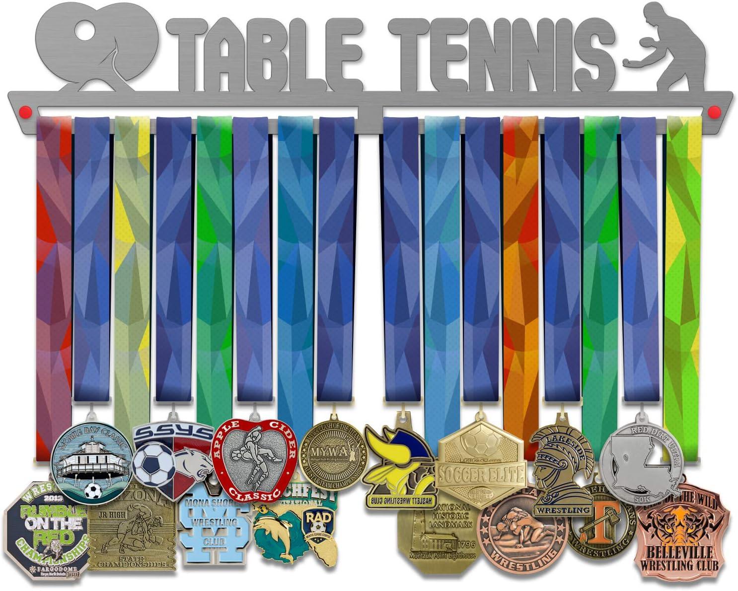 VICTORY HANGERS Tenis de Mesa Medalla Percha Pantalla   Deportes Medalla Pantalla Medalla de Perchas   Acero Inoxidable   por victoryhangers campeones.