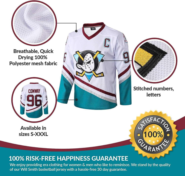 AFLGO Conway #96 Mighty Ducks Ice Hockey Jersey Bonus Wristbands