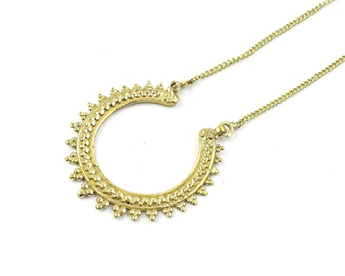 Amazon.com: Estrella Necklace, Mandala, Brass Ethnic Pendant ...