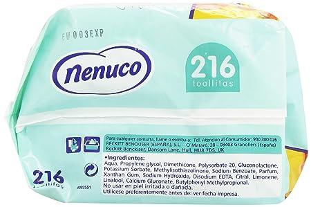Nenuco Toallitas bebé Dermosensitive 216 unidades: Amazon.es: Alimentación y bebidas