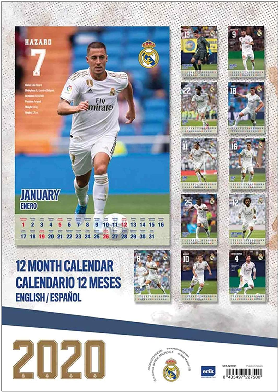 Real Madrid Official 2020 Soccer Calendar A3