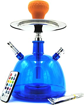 Cachimba Shisha LED Pipa de Agua 28 CM Pack Hookah Electronica de ...